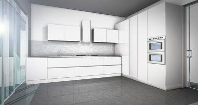 Esempio di rendering del progetto cucina elaborato da Lab Cucine Torino.