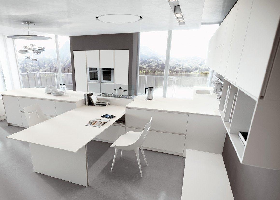 La cucina bianca laccata nella versione sia lucida che opaca, da Lab Cucine Torino