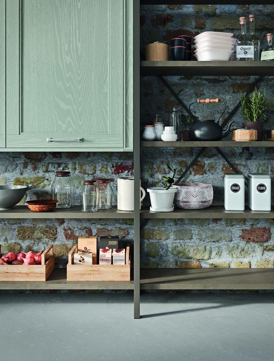 Elementi stile Industrial in una cucina Tradizionale in Decapè