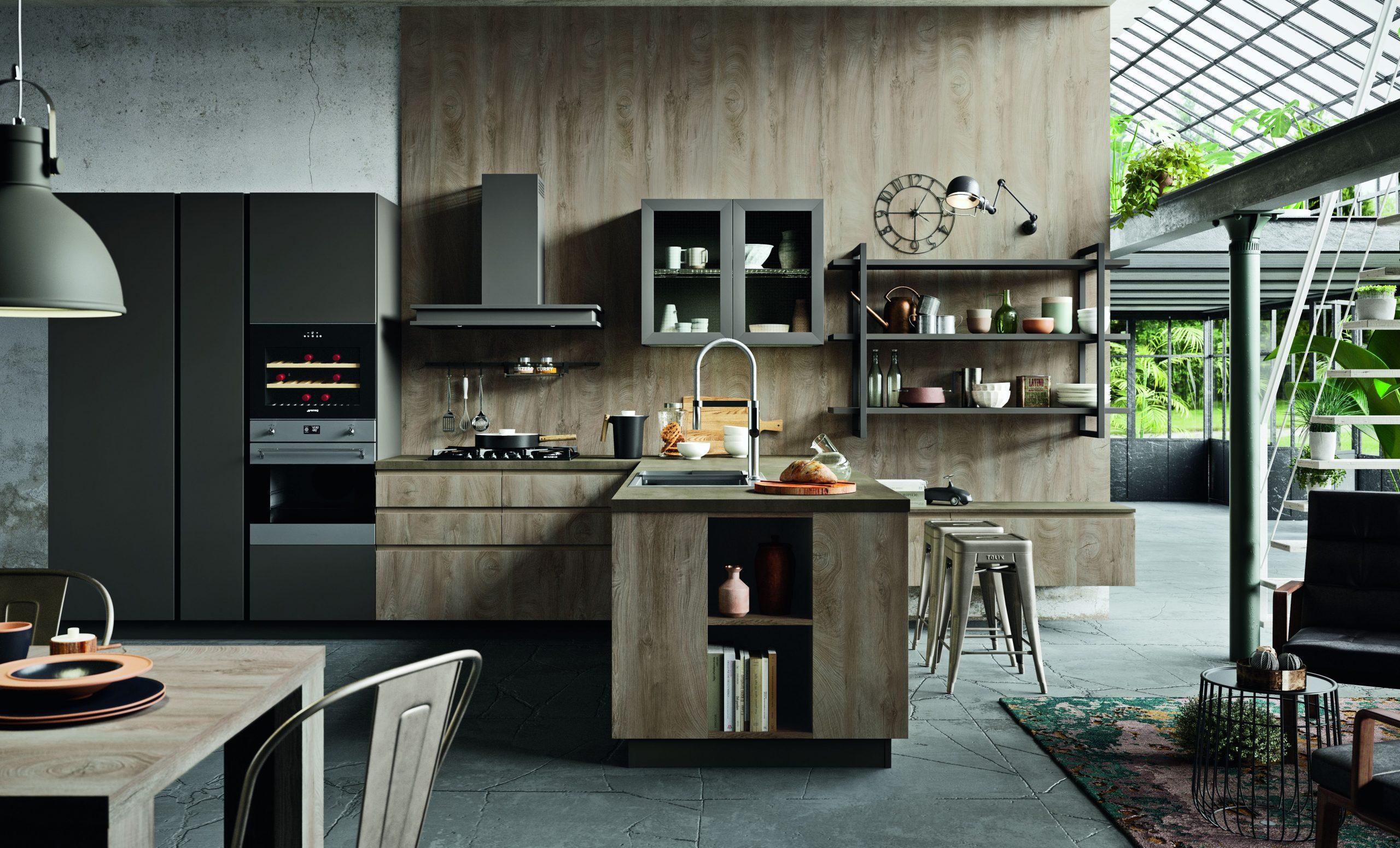 Cucine in stile industriale protagoniste nelle scelte più attuali da Lab Cucine Torino