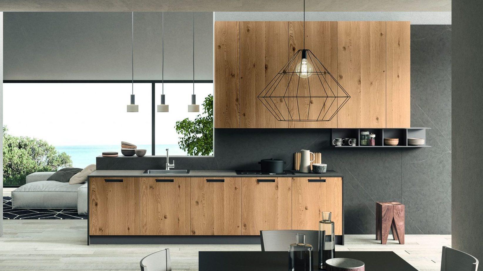 Cucina di design Rovere Nodato da Lab Cucine Torino
