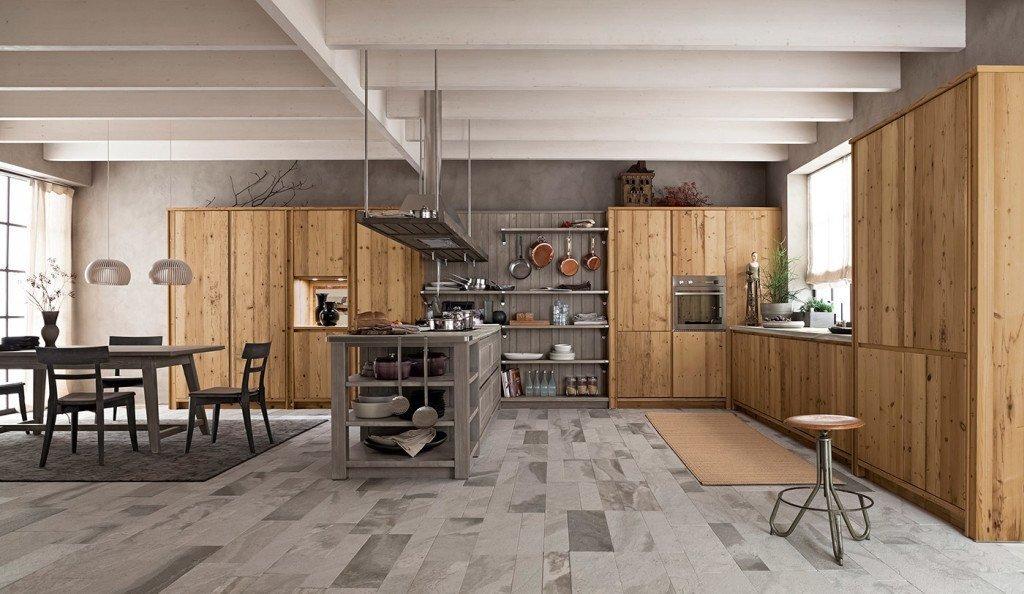 Cucina Moderna in legno vecchio