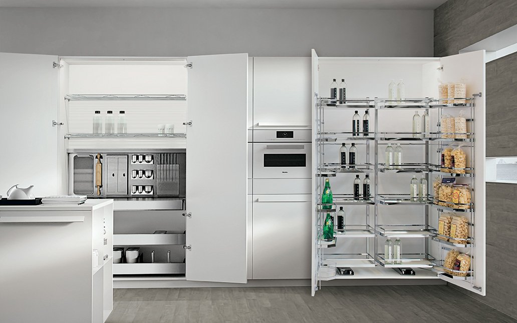 tipologie di attrezzature interne per progettare la cucina