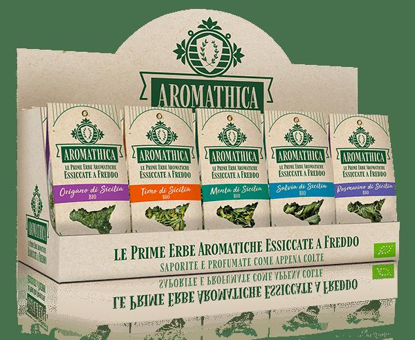 Erbe aromatiche essicate a freddo prodotte da Aromathica