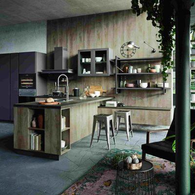 Una composizione Urban tra la selezione di cucine moderne e classiche di tendenza di Lab Cuicne Torino.